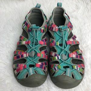 KEEN Multicolored Washable Hiking Shoes. EUC.